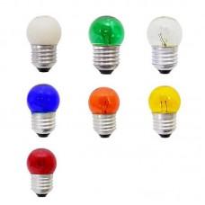 0112 - LAMP BOLINHA E27  7WX127V SORT.BRASF