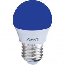 10813 - LAMP BOLINHA LED E27 2W BIV. AZUL AVANT