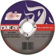 4301 - DISCO CORTE P/INOX FINO 4.1/2 PRATA DISF
