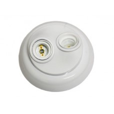 6187 - .PLAFON PVC  P/2 LAMP.PORC.ILUMI 100W PT