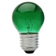 0135 - LAMP BOLINHA E27 15WX127V VERD.BRASF
