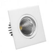 7267 - .SPOT QUADR.C/LAMP LED 5W 6500K BRILIA