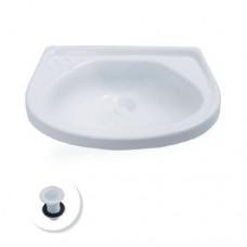 9214 - LAVATORIO PLAST.C/VALV BR.38X27 ARTPLAS