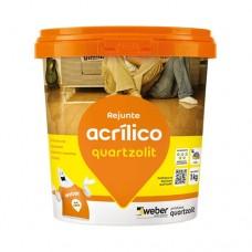 8233 - REJUNTE ACRILICO PT.GRAFITE 1KG QUARTZ