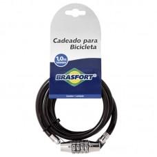 2994 - CADEADO P/BICICLETA C/SEGR.1M BRASF.