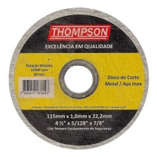 9478 - DISCO CORTE P/INOX FINO 4.1/2 THOMPSON