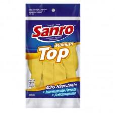 0150 - LUVA LATEX FORRADA AM   P SANRO TOP